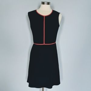 THML Navy & Coral Fit and Flare Sress
